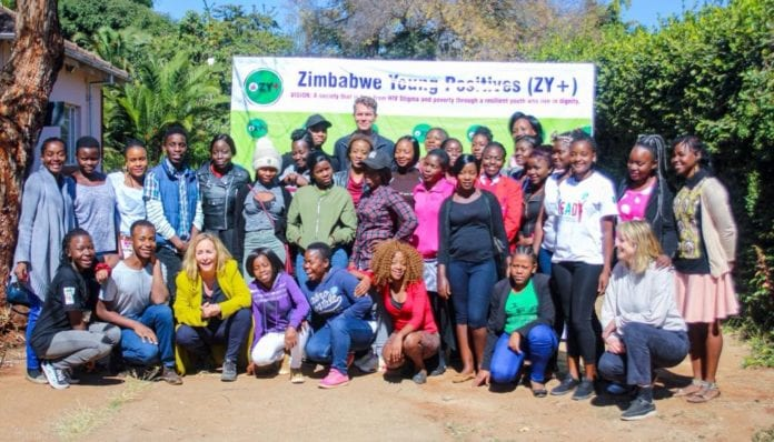 Zimbabwe Young Positives Network members posing for a group photo recently